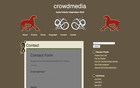 Screenshot of Contact Page crowdmedia.co - contact – crowdmedia - captured Oct. 19, 2018