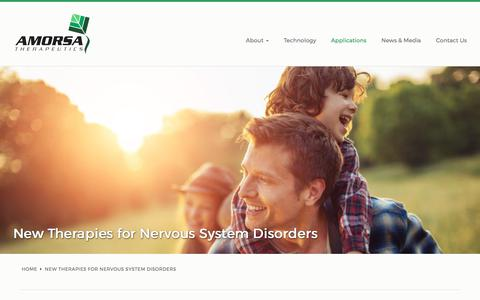 Screenshot of Products Page amorsatx.com - New Therapies for Nervous System Disorders | Amorsa Therapeutics - captured Oct. 8, 2017