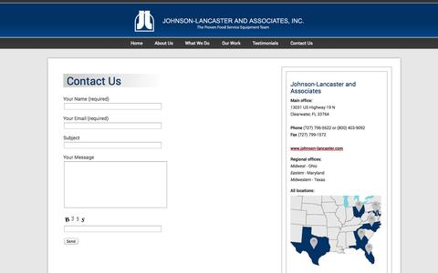 Screenshot of Contact Page johnson-lancaster.com - Contact Us | Johnson-Lancaster and Associates - captured Oct. 4, 2014