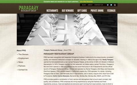 Screenshot of About Page paragarys.com - About Paragary Restaurant Group | Paragary Restaurant Group - captured Oct. 27, 2014