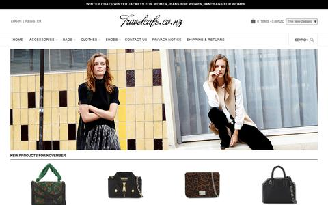 Screenshot of Home Page travelcafe.co.nz - Womens Cheap Designer Clothes, Shoes and Accessories Sale Online - captured Nov. 8, 2017
