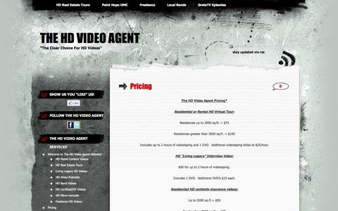 Screenshot of Pricing Page thehdvideoagent.com - Pricing | The HD Video Agent - captured Oct. 7, 2014