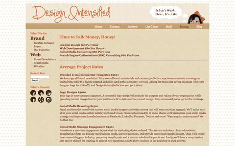 Screenshot of Pricing Page designintensified.com - Pricing | Design Intensified - captured Sept. 30, 2014