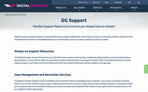 Technical Support for Information & Data Security Software | Digital Guardian
