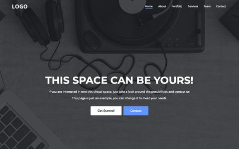 Screenshot of Home Page bin.pt - Virtual space renting - captured Nov. 13, 2018
