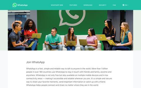 Screenshot of Jobs Page whatsapp.com - Join WhatsApp - captured June 21, 2019
