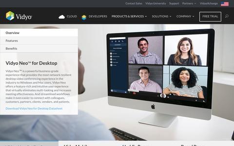 Vidyo Neo Desktop Video Conferencing | Multi-Party Video Conferencing