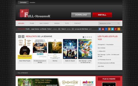 Screenshot of Home Page full-streamvk.com - Film Gratuit en Streaming VF - Full-StreamVK » Film en Streaming sur Full-StreamVK - captured Oct. 12, 2015