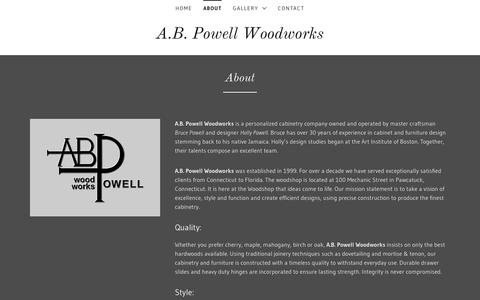 Screenshot of About Page abpowellwoodworks.com - About   AB Powell Woodworks - captured Dec. 8, 2018