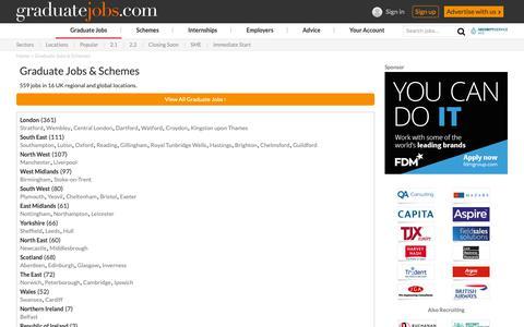 Screenshot of Locations Page graduate-jobs.com - Graduate Jobs & Schemes | graduate-jobs.com - captured Sept. 30, 2018