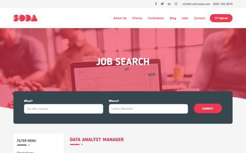 Screenshot of Jobs Page trustinsoda.com - Trust In Soda | Jobs - captured Nov. 19, 2018