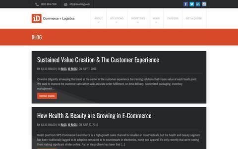 Screenshot of Blog idcomlog.com - Blog Archives - iD Commerce + Logistics - captured July 24, 2018