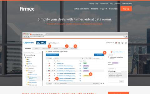 Virtual Data Rooms - Data Room Provider | Firmex