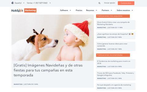 Screenshot of Blog hubspot.es - Marketing - captured Dec. 4, 2017