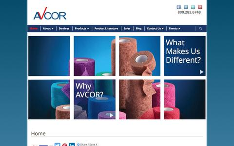 Screenshot of Home Page avcorhealth.com - Online Medical Supply companies Phoenix AZ | Ice bags for injuries houston tx, miami fl - captured Sept. 30, 2014