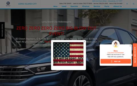 Screenshot of Home Page licvw.com - Long Island City Volkswagen | New and Used VW Dealer in New York City - captured July 2, 2018