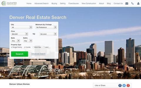 Screenshot of Home Page denver-urban-homes.com - Denver Urban Homes Real Estate   Denver Homes For Sale   Denver Realtors   Denver Real Estate Agents   Denver-Urban-Homes.com - captured Feb. 9, 2016