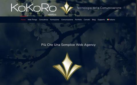 Screenshot of Home Page kokoroswiss.com - Kokoro Swiss - Siti Web Ticino e Hosting - captured Oct. 15, 2018