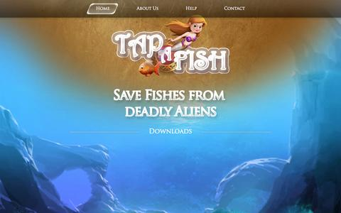Screenshot of Home Page tapafish.com - Tap A Fish Soars for Android and iOS, iPhone, iPad, iPod Touch #1 free Mobile Game - captured Sept. 8, 2015