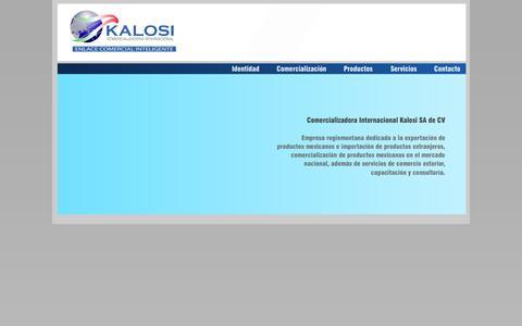Screenshot of Home Page kalosi.com.mx - kalosi - captured Oct. 1, 2014
