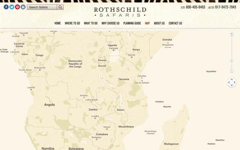 Screenshot of Maps & Directions Page rothschildsafaris.com - Africa Safari Map - Rothschild Safaris - captured Oct. 9, 2014