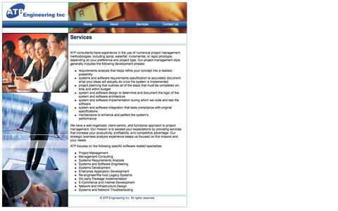 Screenshot of Services Page atpeng.com - ATP Engineering Inc., Services - captured Nov. 19, 2016