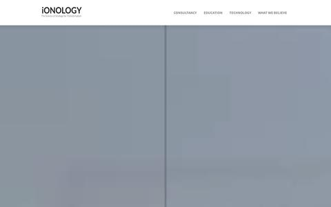 Screenshot of Home Page ionology.com - The Science of Strategy for Transformation – iONOLOGY - captured Oct. 6, 2014