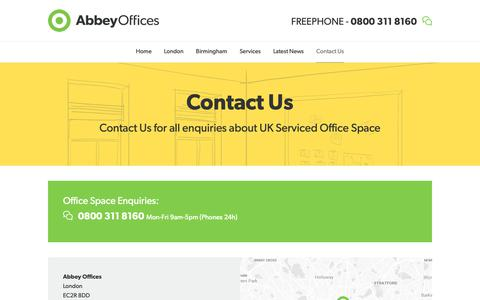 Screenshot of Contact Page abbeyoffices.com - Contact Us - Abbey Offices - captured Dec. 17, 2018