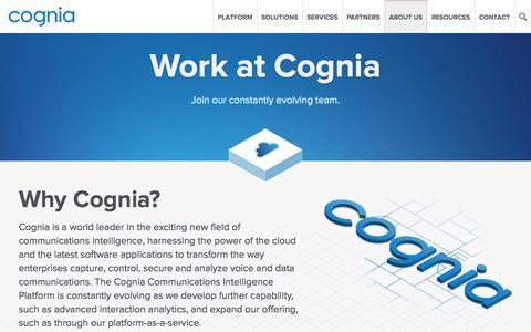 Screenshot of Jobs Page cognia.com - Work at Cognia - captured Oct. 28, 2014