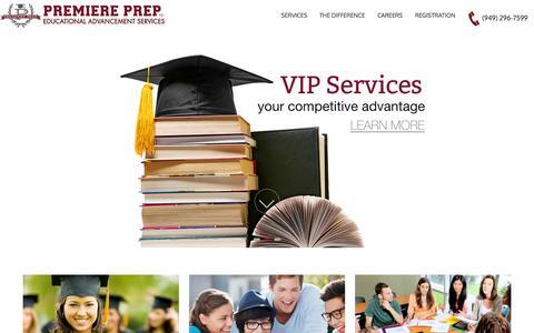 Screenshot of Home Page premiereprep.net - Premiere Prep - captured July 24, 2015