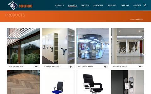 Screenshot of Products Page aicsur.com - Products – aicsur.com - captured Nov. 19, 2016