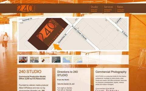 Screenshot of Maps & Directions Page 240studio.com - 240 Studio | Company Info - captured Oct. 9, 2014