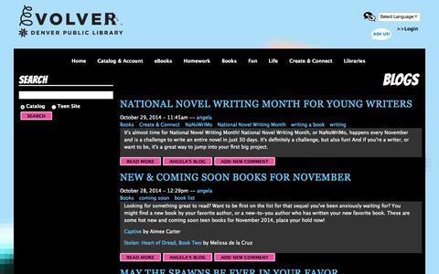 Screenshot of Blog denverlibrary.org - Blogs | Evolver - captured Nov. 2, 2014
