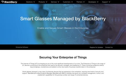 Smart Glasses – Wearables UEM in the Enterprise