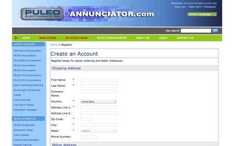 Screenshot of Signup Page netsolstores.com - Puleo Electronics - Register - captured Oct. 10, 2014