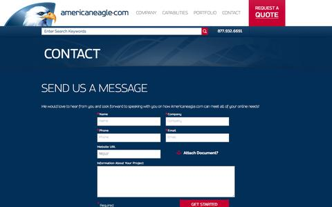 Screenshot of Contact Page americaneagle.com - Contact | Americaneagle.com - captured Oct. 20, 2015