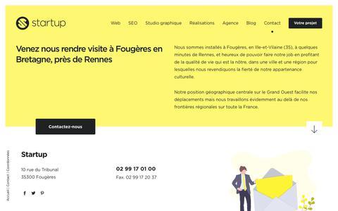 Screenshot of Contact Page start-up.fr - Venez nous rendre visite dans notre agence à Fougères près de Rennes ! - captured May 30, 2019
