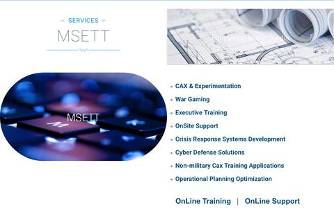 Screenshot of Services Page msett.co.uk - MSETT - captured May 26, 2017