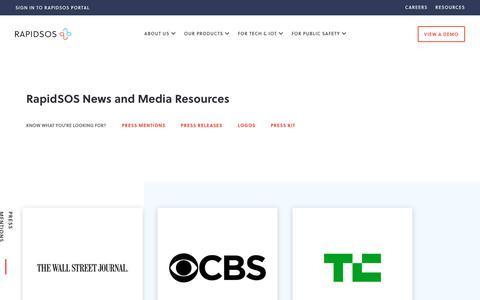 Screenshot of Press Page rapidsos.com - Press Release - RapidSOS - captured Nov. 6, 2019