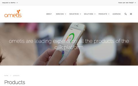 Screenshot of Products Page ometis.co.uk - Business Intelligence Software Products | Ometis - captured Feb. 14, 2016
