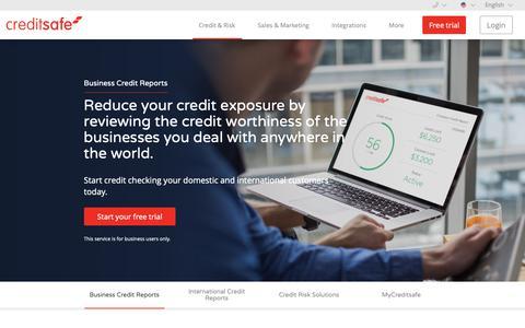 Screenshot of Trial Page creditsafe.com - Business Credit Reports & Company Credit Scores   Creditsafe - captured April 2, 2019