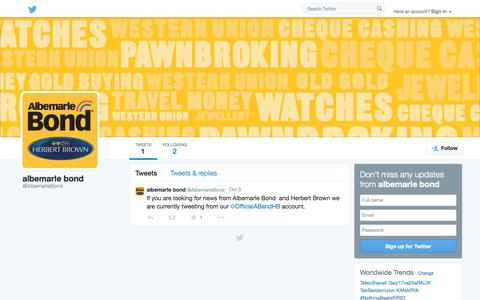 Screenshot of Twitter Page twitter.com - albemarle bond (@AlbemarleBond)   Twitter - captured Oct. 23, 2014