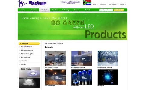 Screenshot of Products Page electroniclights.co.za - LED Lighting Product Information - captured Oct. 26, 2014