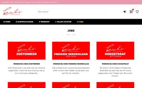 Screenshot of Jobs Page kinki.nl - Jobs | Kinki Kappers - captured Oct. 15, 2018