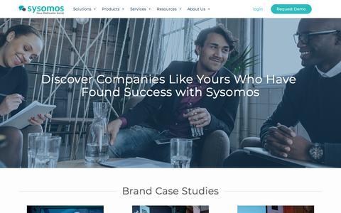 Screenshot of Case Studies Page sysomos.com - Social Media Marketing Case Studies | - captured Jan. 8, 2020