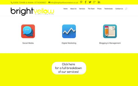 Screenshot of Home Page brightyellowcreative.co.uk - Bright Yellow Creative | Bright Yellow Creative - captured Sept. 18, 2015