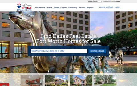 Screenshot of Home Page rmdfw.com - Dallas / Fort Worth, Texas Real Estate & Homes for Sale - Re/Max DFW Associates - captured Nov. 7, 2017