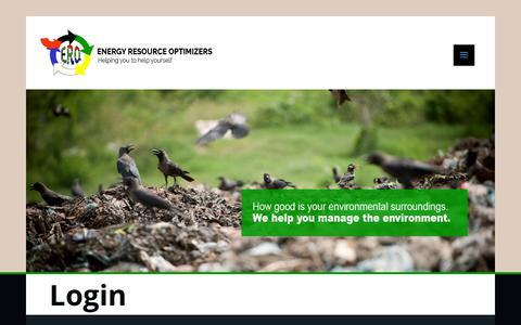 Screenshot of Login Page energyoptimizers.co.za - Login - ERO - captured Dec. 15, 2018