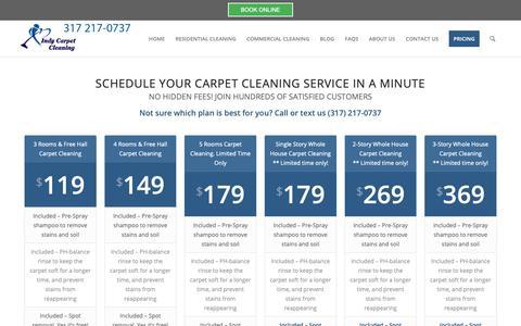 Screenshot of Pricing Page indycarpetcleaning.com - Carpet Cleaning Pricing - Carpet Cleaning Indianapolis - captured Nov. 6, 2018