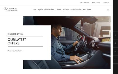 Latest Lexus Finance & Offers | Lexus UK